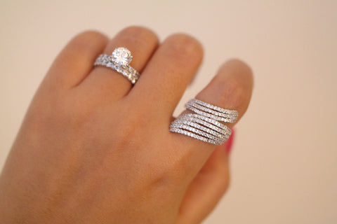 Sterling Silver Multi Row Ring (4 Colors) - SDG by Grace