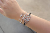 Sterling Silver Peace Bead Bracelet - SDG by Grace