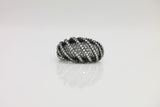Sterling Silver Luxury Pave Dome Ring (4 Colors) - SDG by Grace