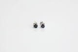 Sterling Silver Black CZ Stud Earrings, 4mm - SDG by Grace