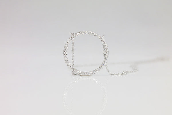 Sterling Silver Open Circle Necklace - SDG by Grace