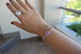 Sterling Silver Cracked Quartz Tennis Bracelet - SDG by Grace