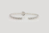 Sterling Silver Halo Setting Bubble Cuff Bracelet - SDG by Grace