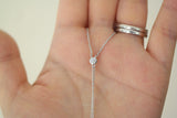 Sterling Silver Lightning Bolts Long Chain Drop Necklace - SDG by Grace