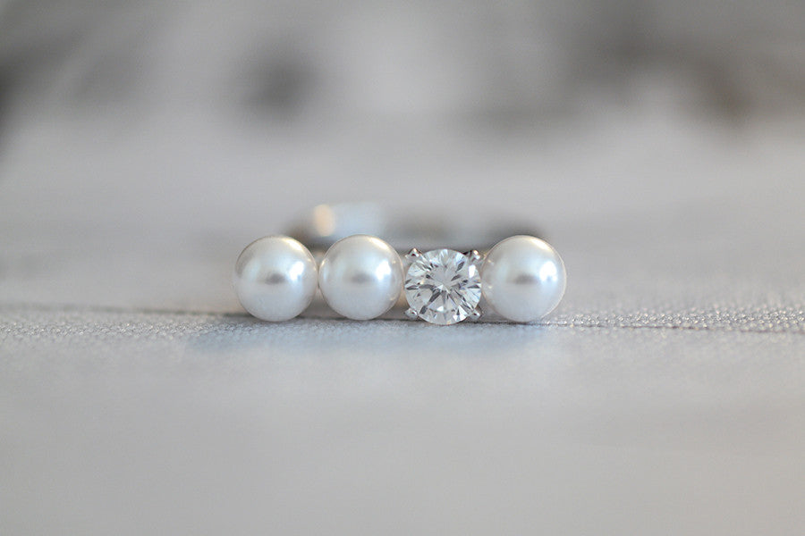 sterling pin gemstone pearls silver pearl ring artulia by