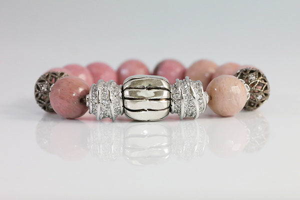 Beaded Bracelet with Silver Ball - SDG by Grace
