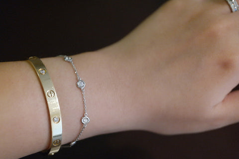 Sterling Silver CZ by the Yard Bracelet - SDG by Grace