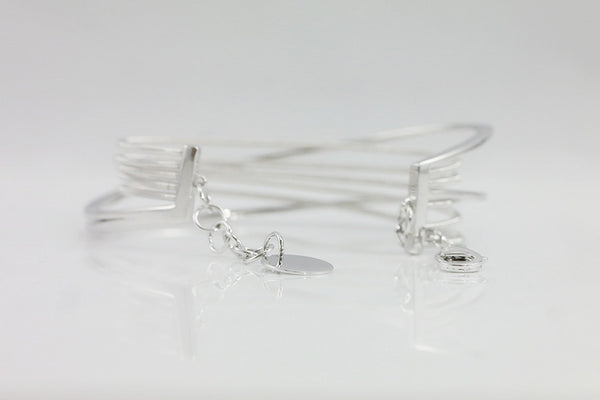 Italian Silver Pave Crystal Cable Bracelet - SDG by Grace