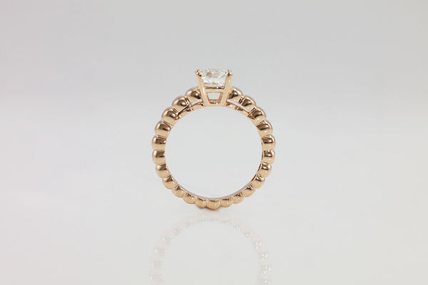 18k Rose Gold Bubble Solitaire Ring - SDG by Grace