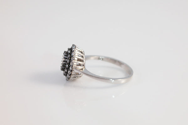 Sterling Silver Double Halo Ring - SDG by Grace
