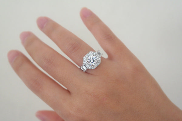 Sterling Silver Vintage Setting Ring - SDG by Grace