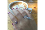 Sterling Silver Paired Color Stone Ring - SDG by Grace