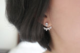 Sterling Silver Teardrop Two Way Earrings - SDG by Grace