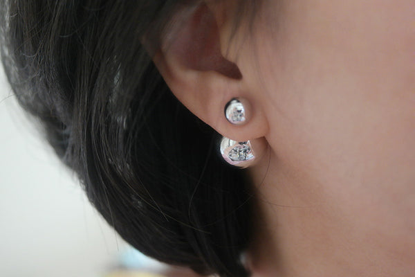 Sterling Silver Mirror Ball Earrings (3 Colors) - SDG by Grace