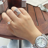 Sterling Silver Angel's Wing Wide Ring (4 Colors) - SDG by Grace