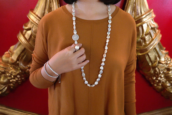 Keshi Pearl Opera Necklace - SDG by Grace