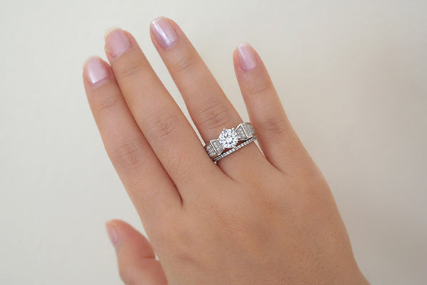 Sterling Silver Engagement Ring - SDG by Grace
