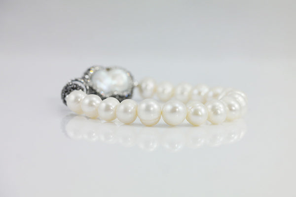 Drusy Style Freshwater Pearl Bracelet (2 Colors) - SDG by Grace