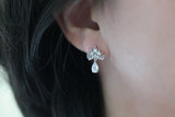 Sterling Silver Crown Teardrop Earrings - SDG by Grace