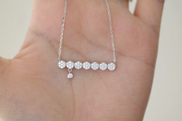 Sterling Silver Flower Bar Necklace - SDG by Grace