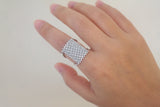 Sterling Silver Micro Pave Mesh Ring - SDG by Grace