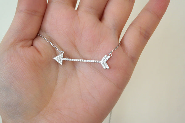 Sterling Silver Arrow Necklace - SDG by Grace