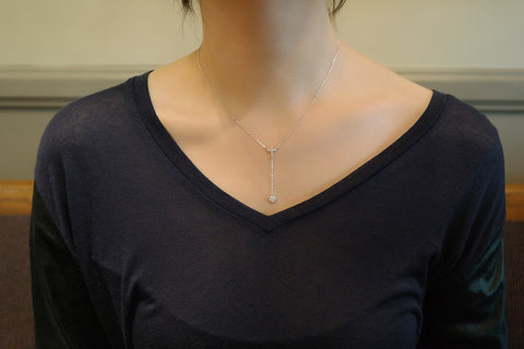 Sterling Silver Cross and Heart Y Necklace - SDG by Grace