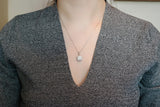Sterling Silver Cushion Pave Pendant Necklace - SDG by Grace