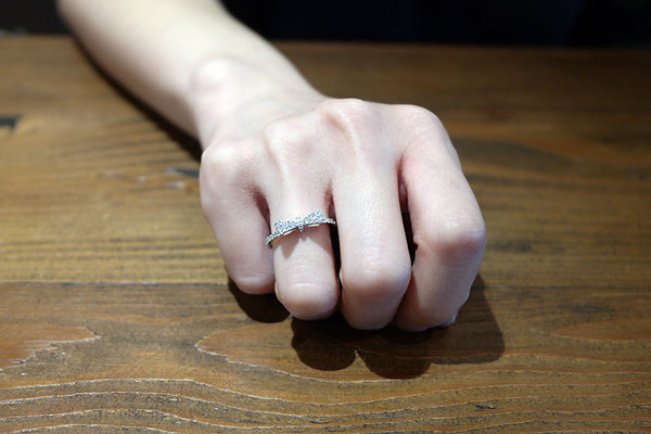 Sterling Silver Slim Bow Ring - SDG by Grace