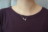 Sterling Silver Pearl and Bow Necklace - SDG by Grace