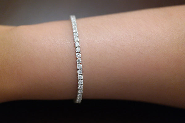 Sterling Silver Tennis Bracelet, 3mm - SDG by Grace