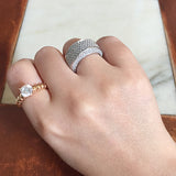 Sterling Silver Bold Pave Ring (3 Colors) - SDG by Grace