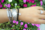 Sterling Silver Clover Beaded Bracelet - SDG by Grace