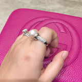 Sterling Silver Classic Pearl Ring - SDG by Grace