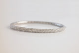 Sterling Silver Crystal Bangle Bracelet - SDG by Grace