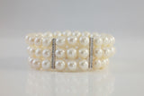 Three Strand Freshwater Pearl Bracelet - SDG by Grace