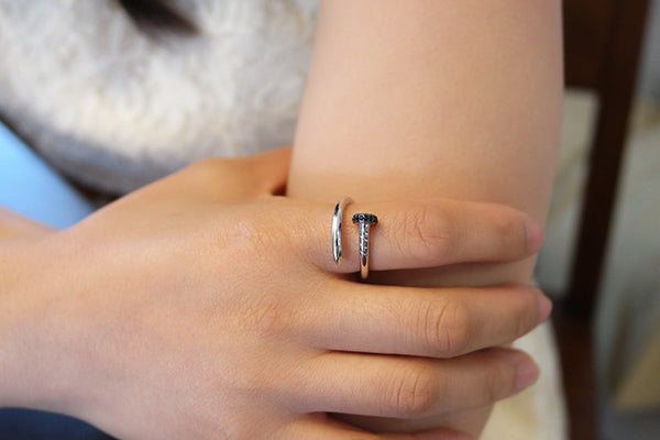 Sterling Silver Nail Ring - SDG by Grace