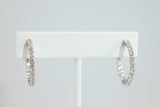 Sterling Silver Crystal Hoop Earrings - SDG by Grace