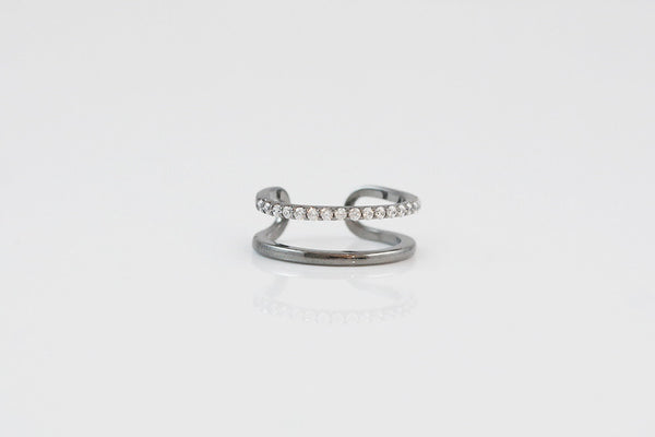 Sterling Silver Cuff Knuckle Ring - SDG by Grace