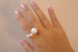 Sterling Silver Three Pearl Ring - SDG by Grace