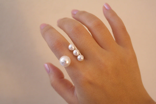 Sterling Silver Four Pearl Ring - SDG by Grace