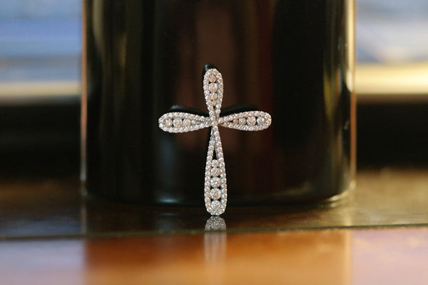 Sterling Silver Twisted Cross Necklace - SDG by Grace