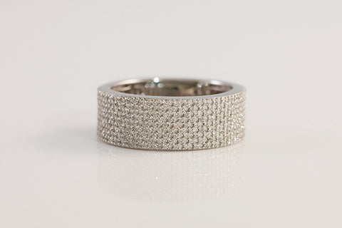Sterling Silver Micro Pave Ring, White - SDG by Grace