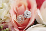 14k White or Rose Gold Pave Rose Ring - SDG by Grace