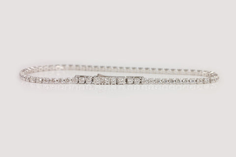 Sterling Silver Slim Tennis Bracelet, 2mm - SDG by Grace