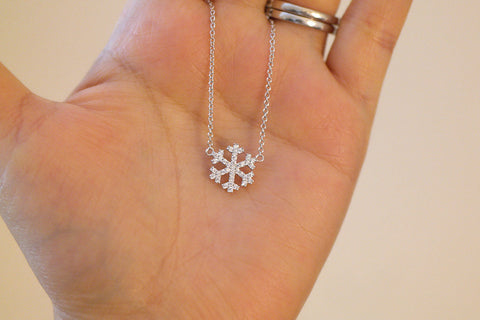 Sterling Silver Snowflake Necklace - SDG by Grace