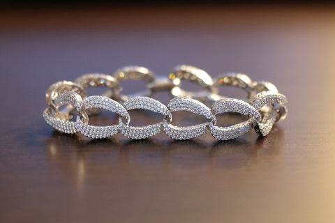 Brass Pave Chain Bracelet (3 Colors) - SDG by Grace