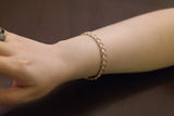 Italian Braided Silver Bracelet, Rose - SDG by Grace