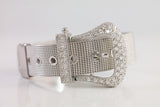Sterling Silver Pave Buckle Bracelet - SDG by Grace