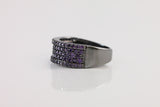 Sterling Silver Colorful Pave Ring, Purple - SDG by Grace